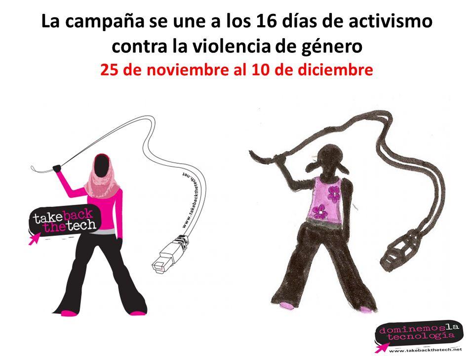 La campaña se une a los 16 días de activismo contra la violencia de género 25 de noviembre al 10 de diciembre