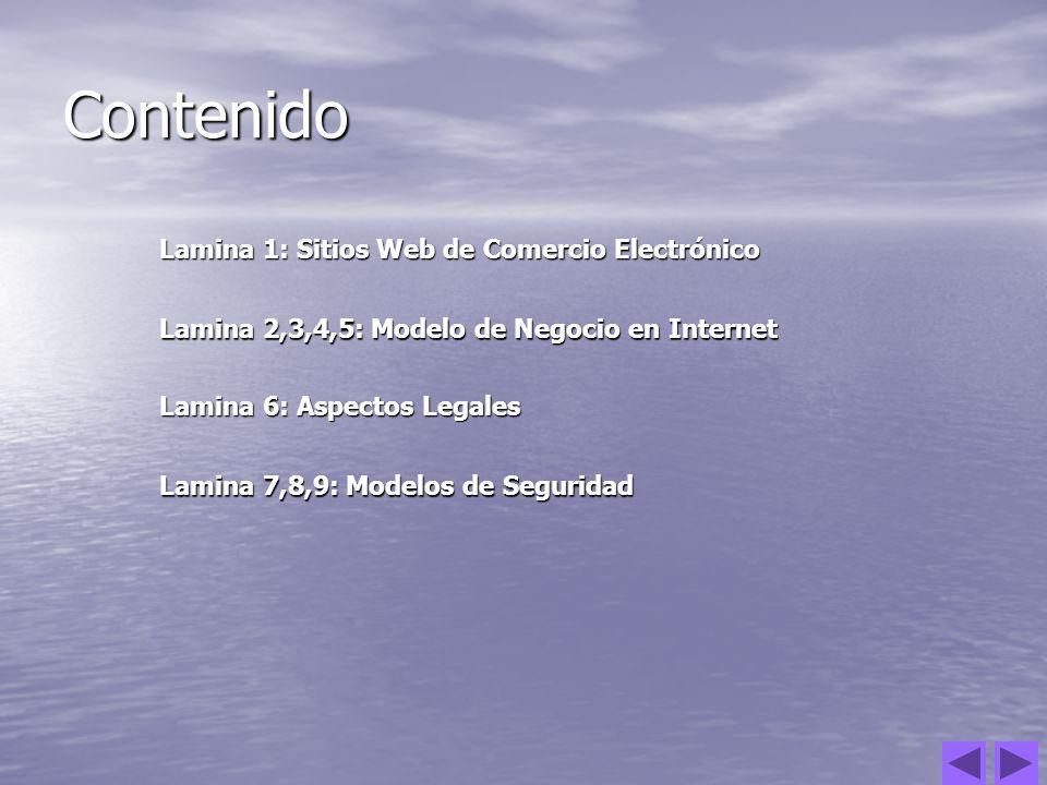 Contenido Lamina 1: Sitios Web de Comercio Electrónico