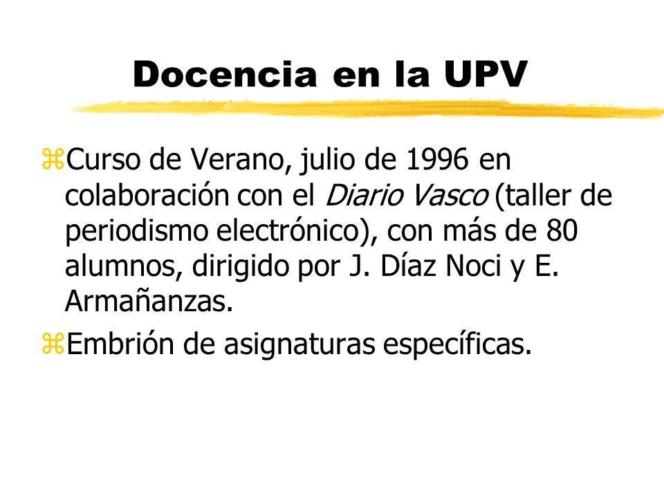 Docencia en la UPV