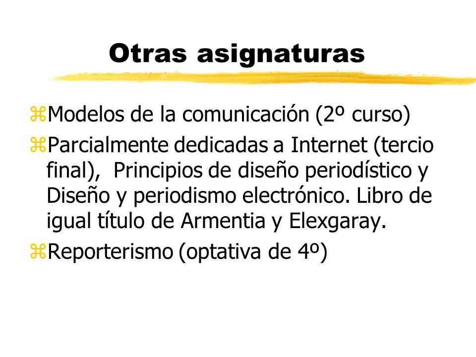 Otras asignaturas Modelos de la comunicación (2º curso)