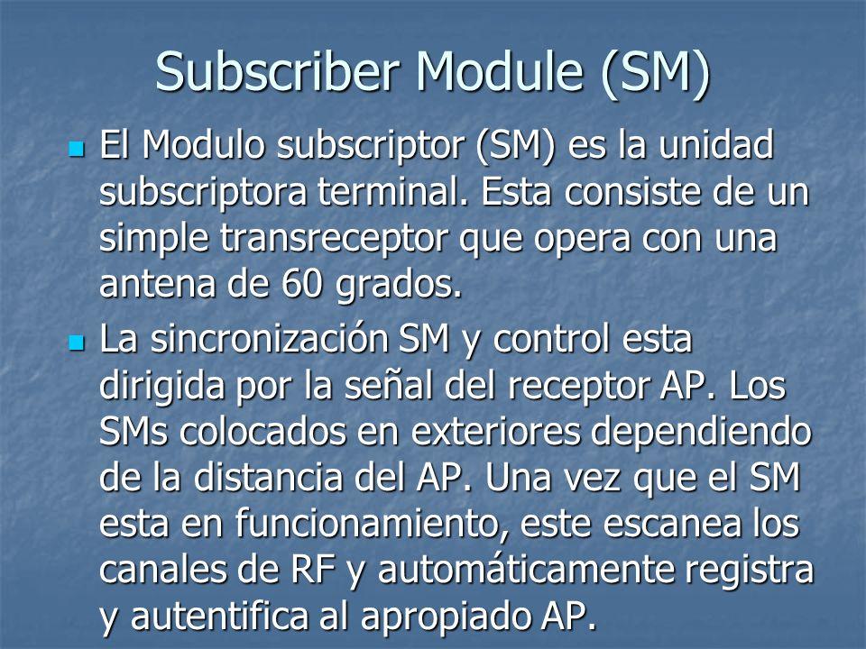 Subscriber Module (SM)