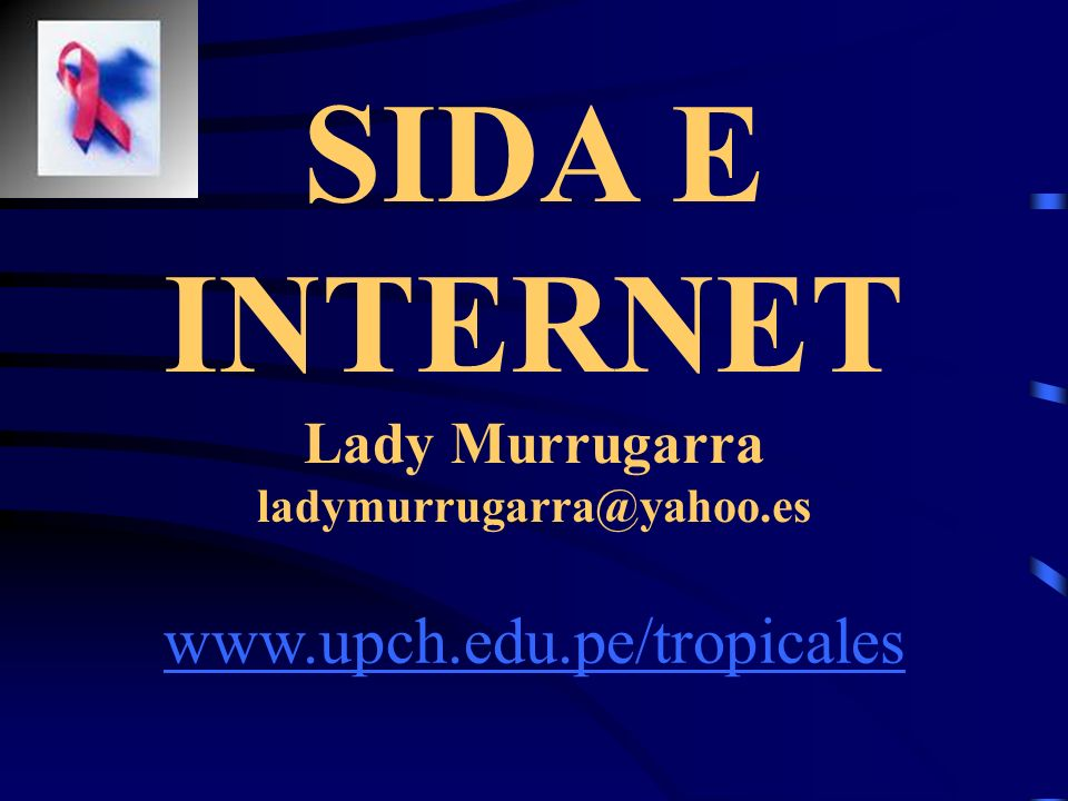 SIDA E INTERNET Lady Murrugarra