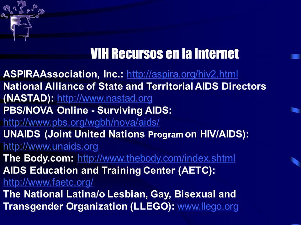 VIH Recursos en la Internet