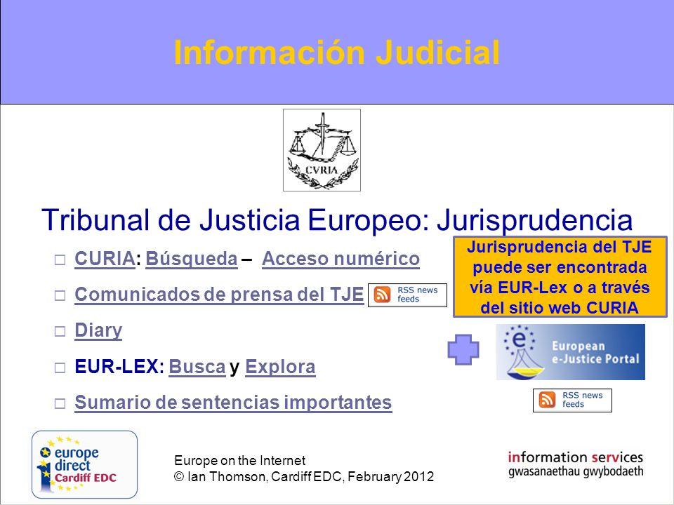Tribunal de Justicia Europeo: Jurisprudencia