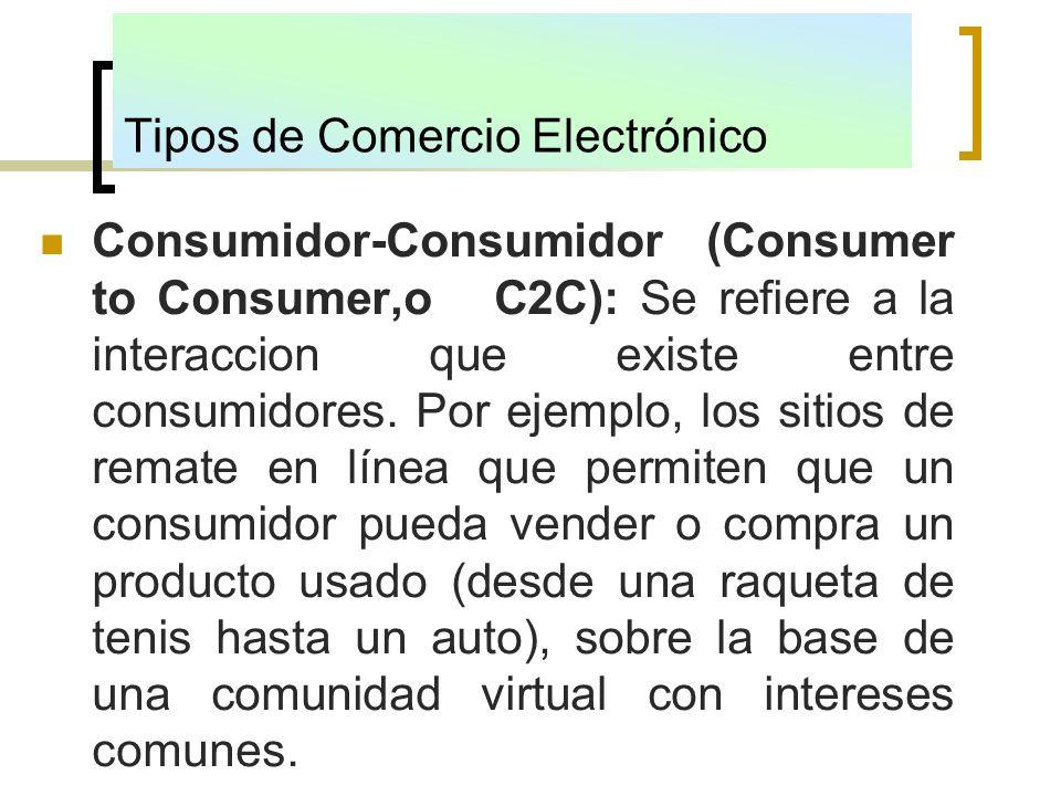 Tipos de Comercio Electrónico