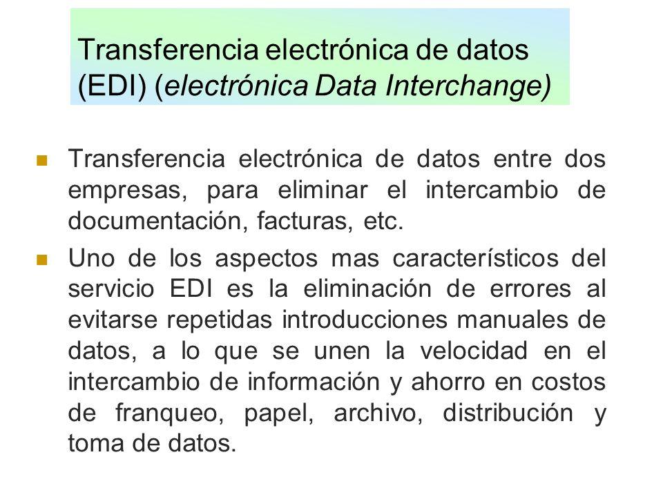 Transferencia electrónica de datos (EDI) (electrónica Data Interchange)