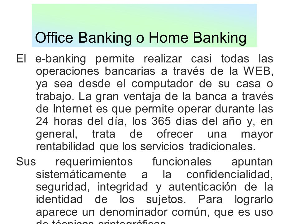 Office Banking o Home Banking