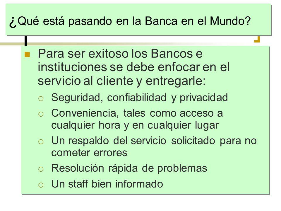 ¿Qué está pasando en la Banca en el Mundo