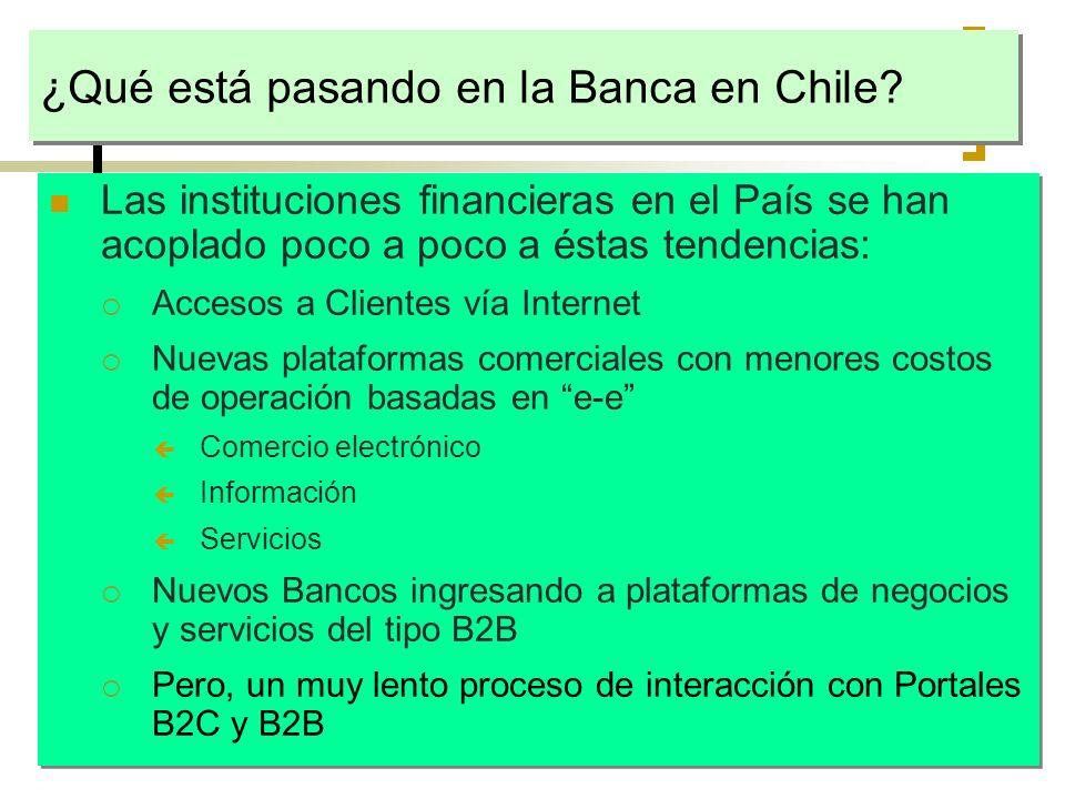 ¿Qué está pasando en la Banca en Chile
