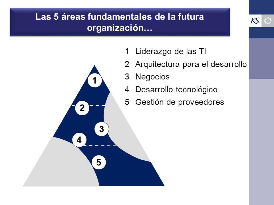 Las 5 áreas fundamentales de la futura organización…