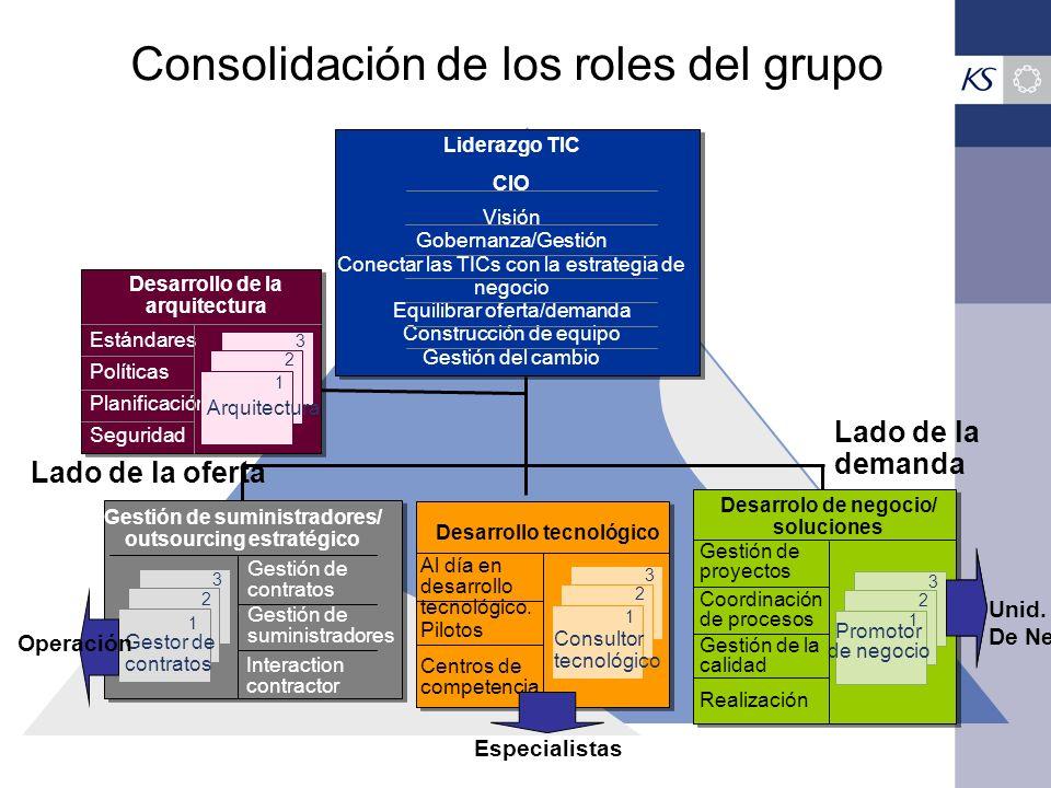 Consolidación de los roles del grupo