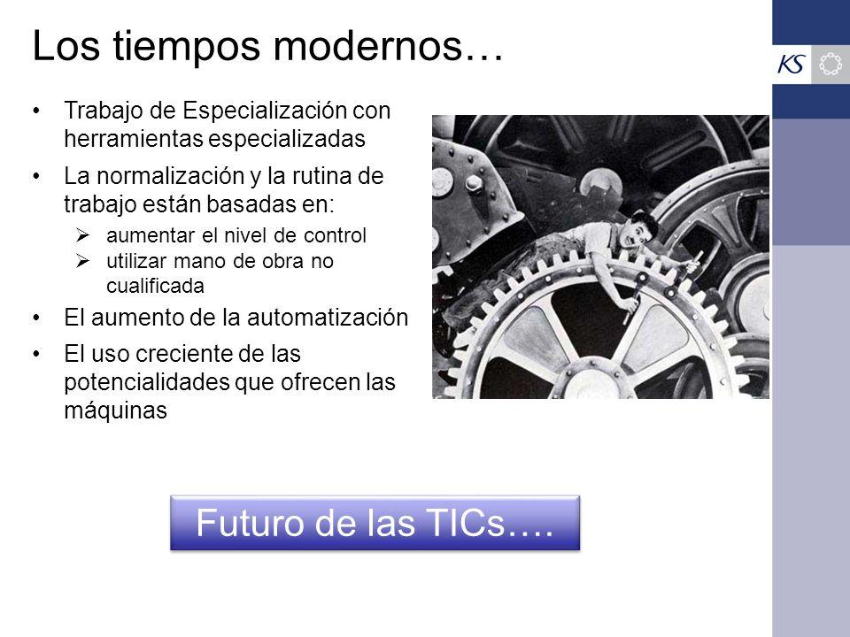 Los tiempos modernos… Futuro de las TICs….