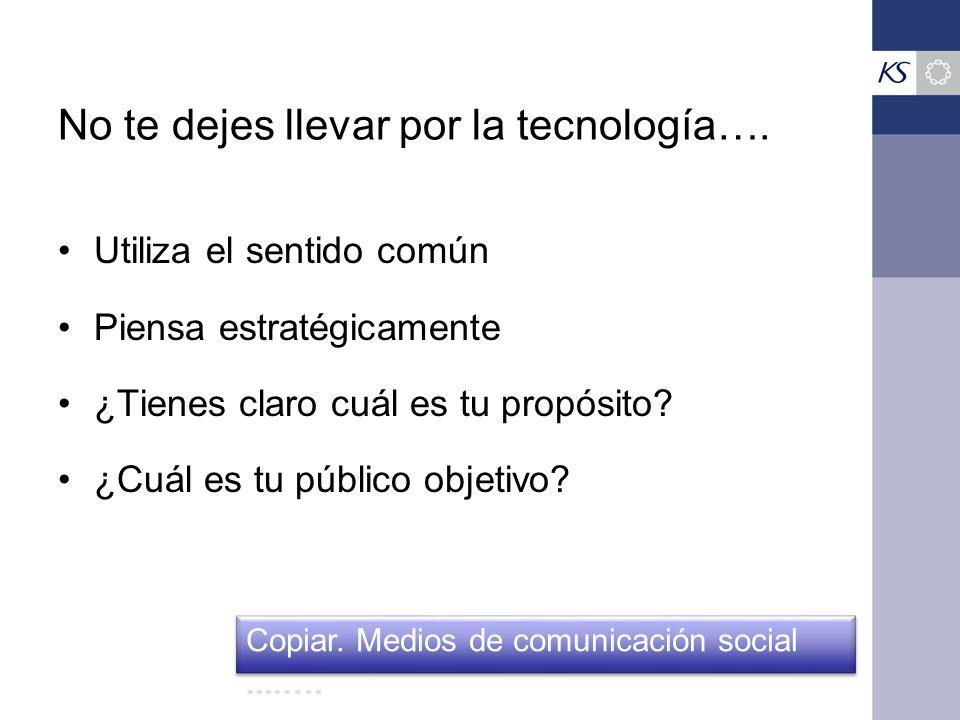 No te dejes llevar por la tecnología….