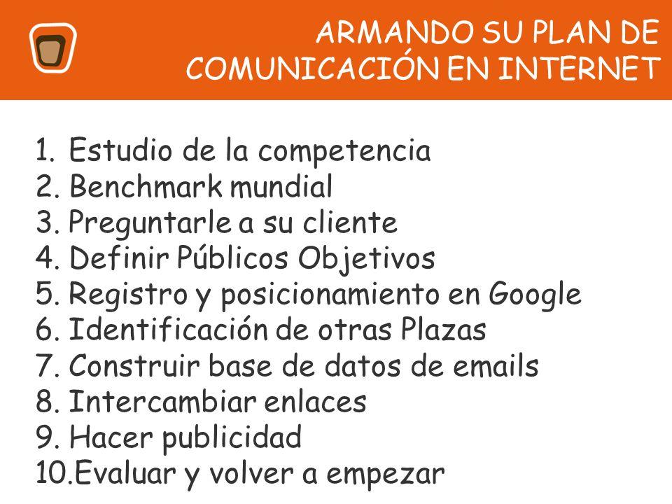 ARMANDO SU PLAN DE COMUNICACIÓN EN INTERNET