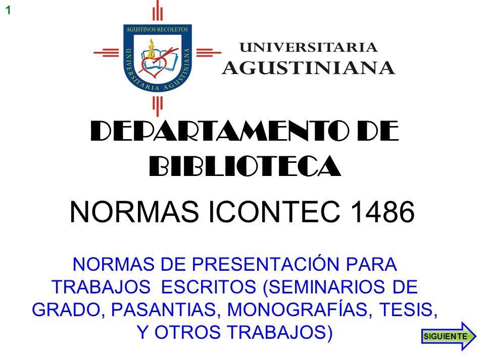 DEPARTAMENTO DE BIBLIOTECA