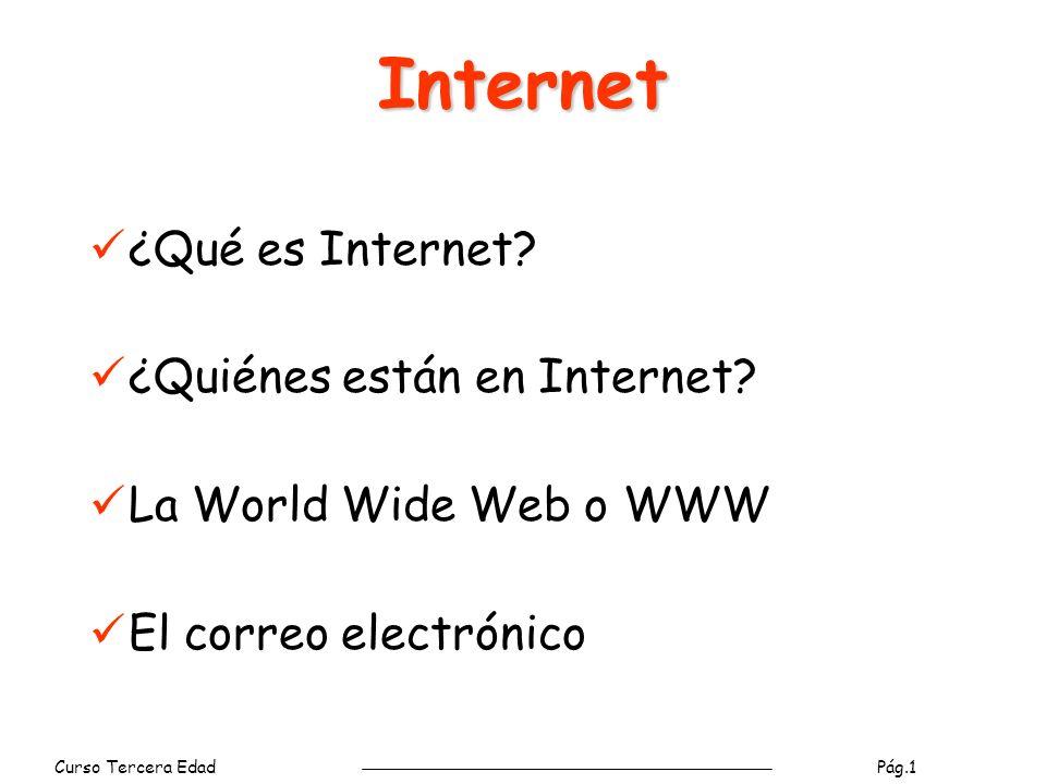 Internet ¿Qué es Internet ¿Quiénes están en Internet