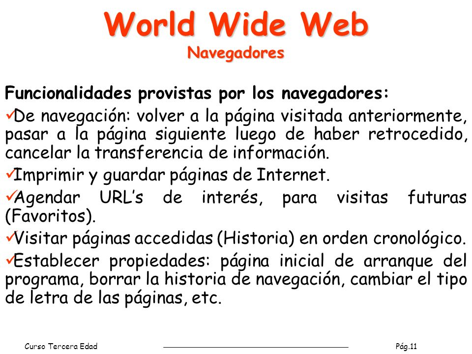 World Wide Web Navegadores
