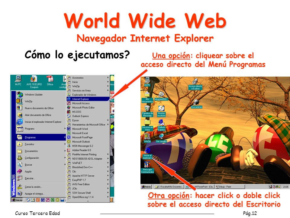 World Wide Web Navegador Internet Explorer