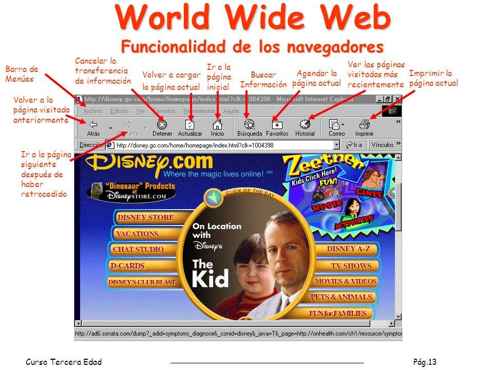 World Wide Web Funcionalidad de los navegadores