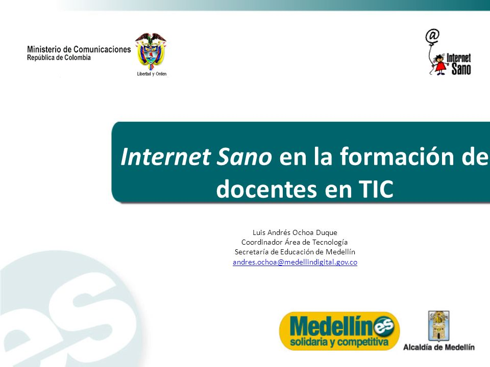 Internet Sano en la formación de docentes en TIC
