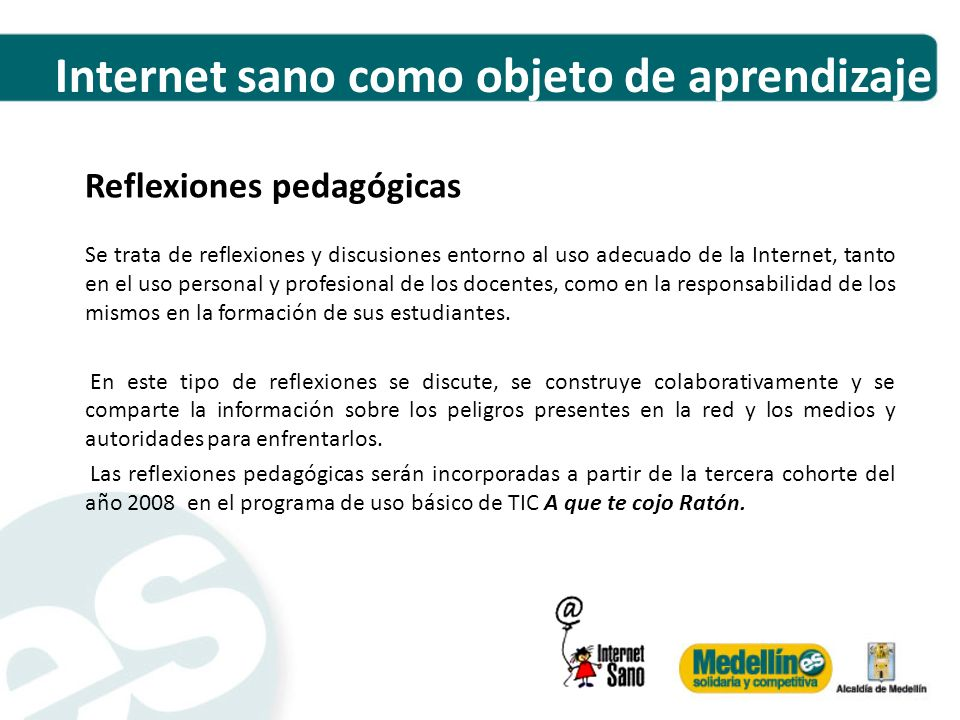 Internet sano como objeto de aprendizaje