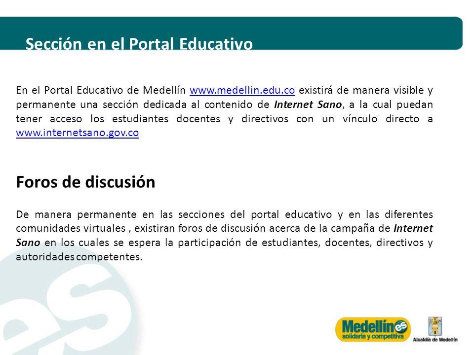Sección en el Portal Educativo