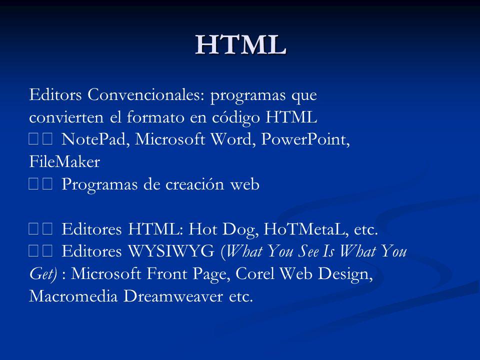 HTML Editors Convencionales: programas que