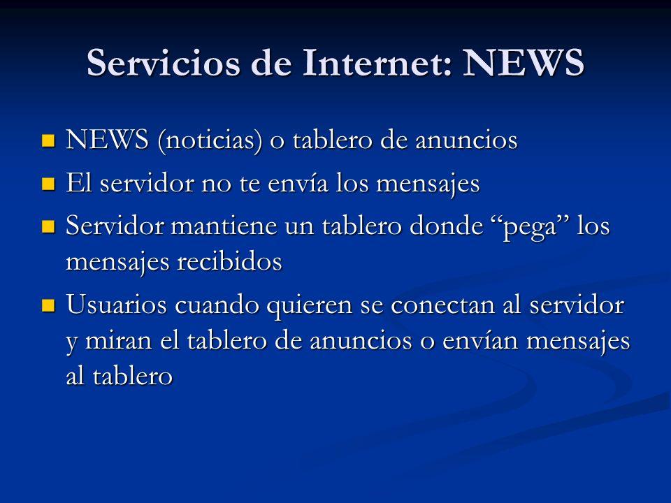 Servicios de Internet: NEWS