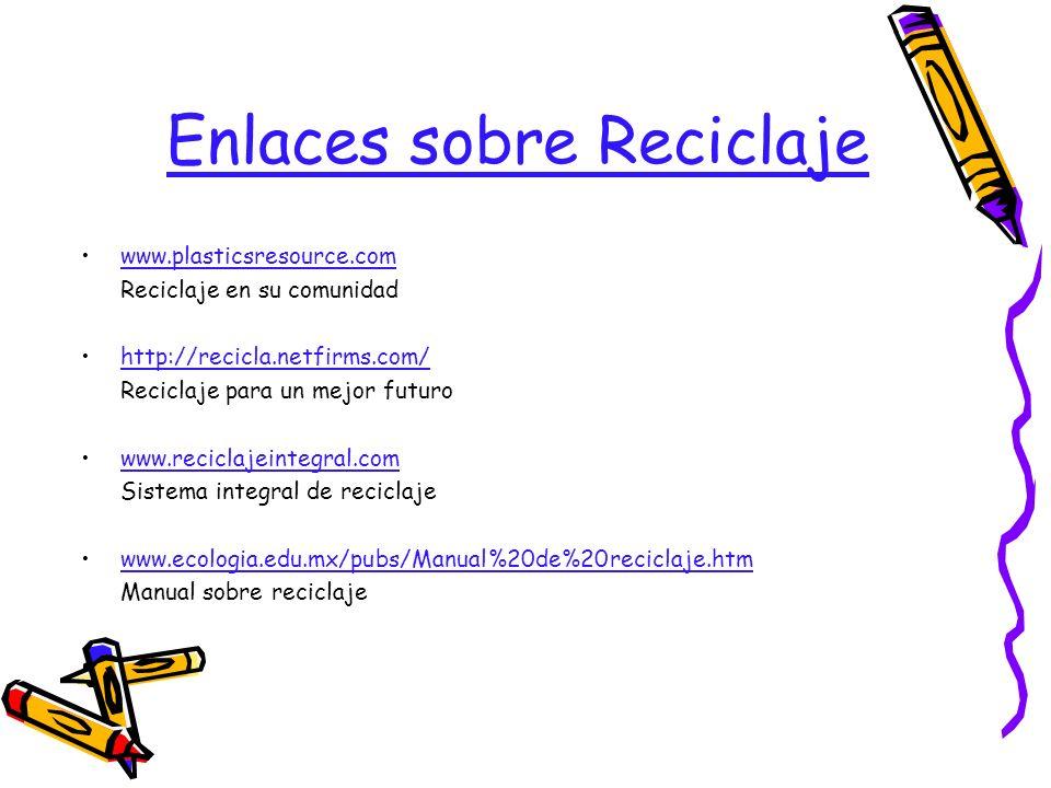Enlaces sobre Reciclaje