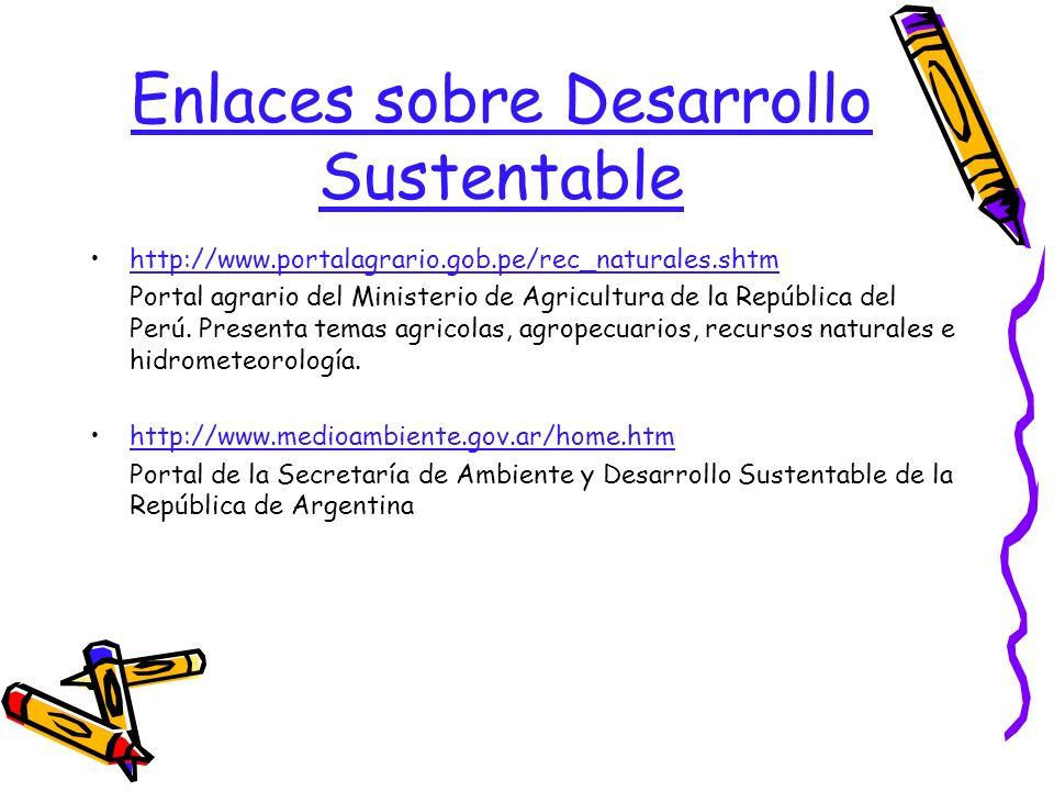 Enlaces sobre Desarrollo Sustentable