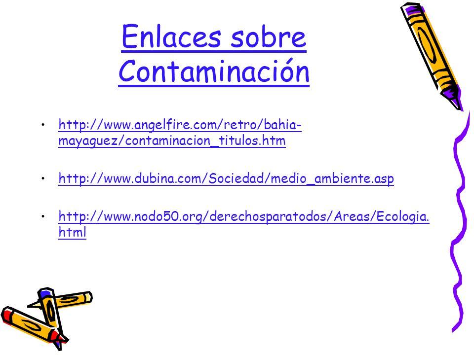 Enlaces sobre Contaminación