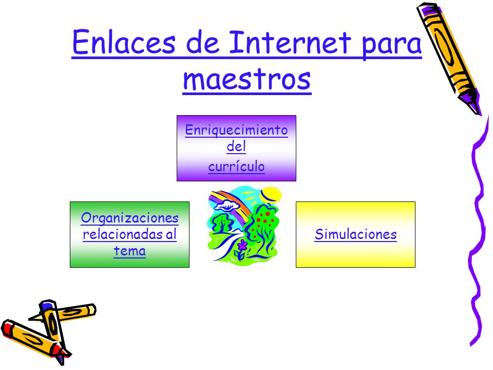 Enlaces de Internet para maestros