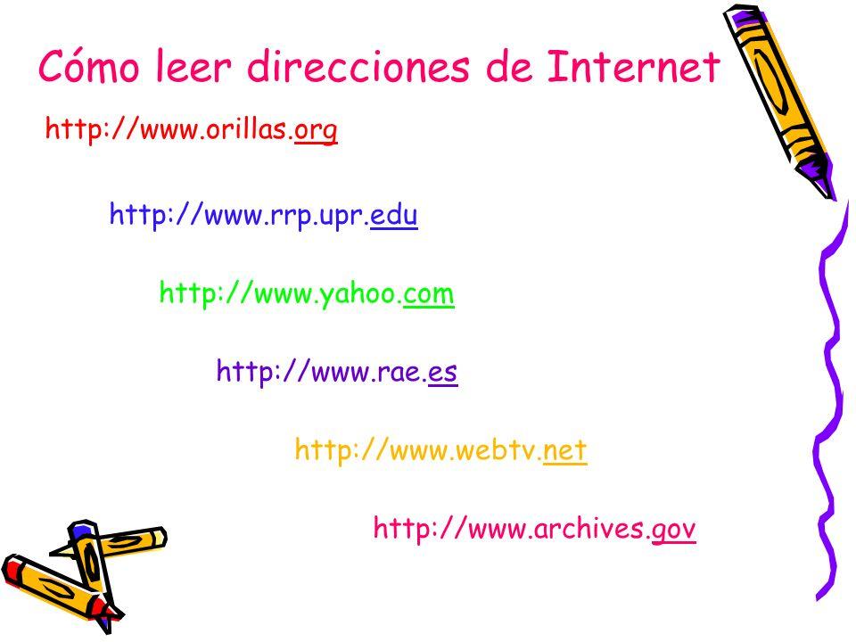Cómo leer direcciones de Internet