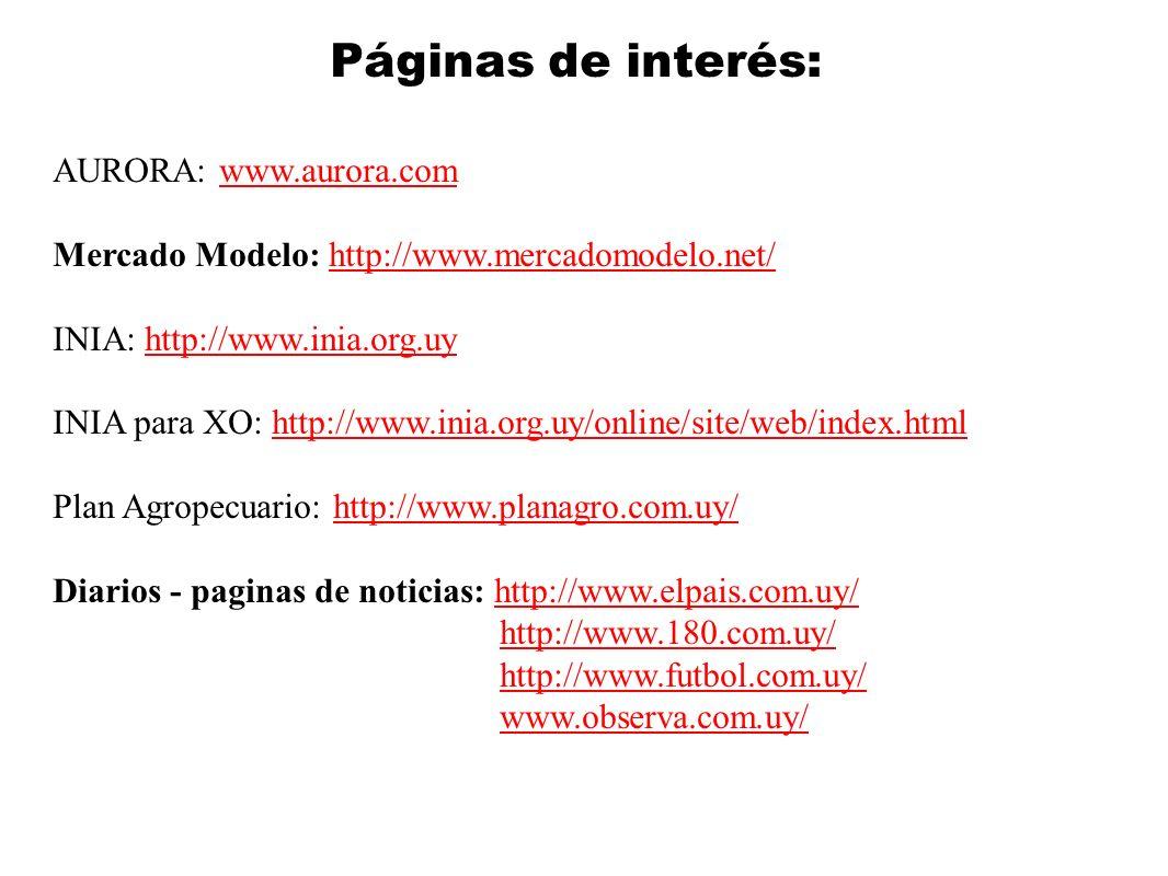 Páginas de interés: AURORA: www.aurora.com