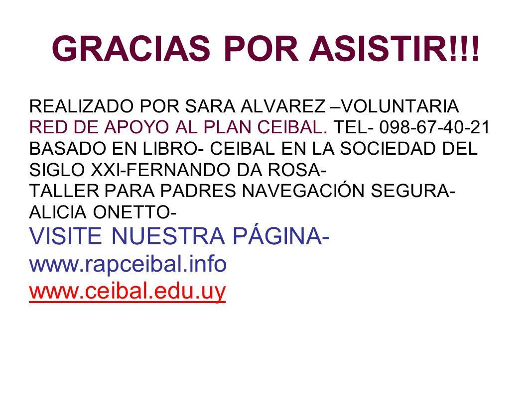 GRACIAS POR ASISTIR!!! VISITE NUESTRA PÁGINA- www.rapceibal.info