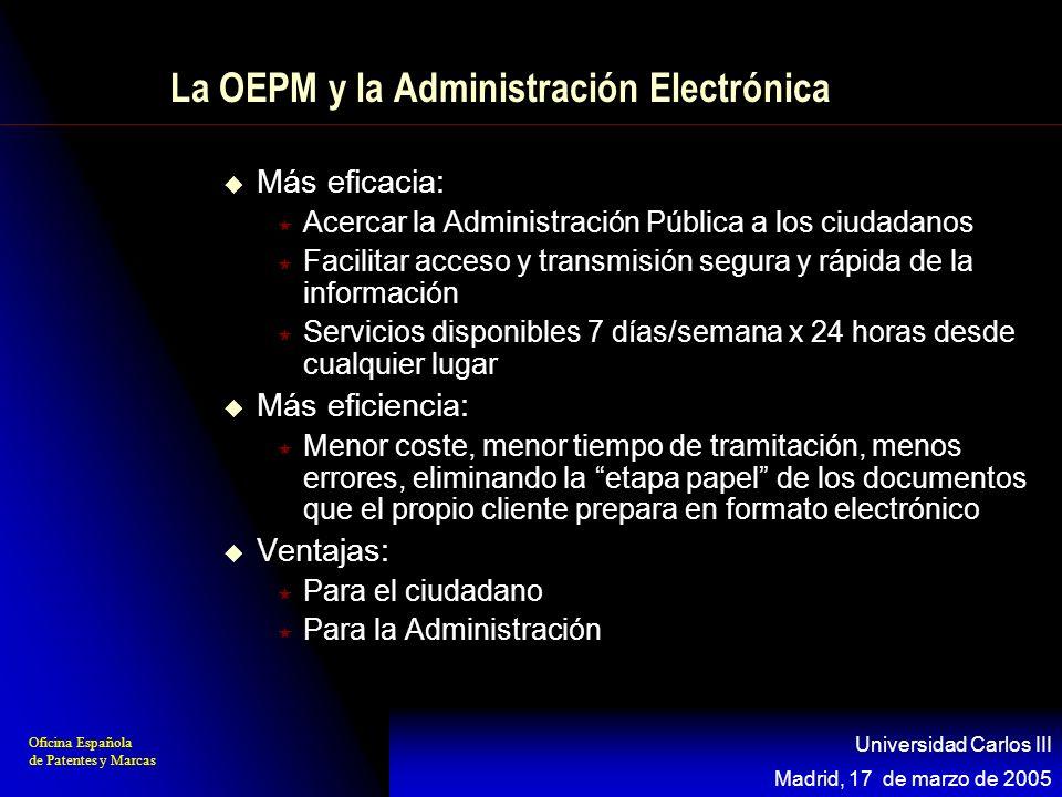 La OEPM y la Administración Electrónica