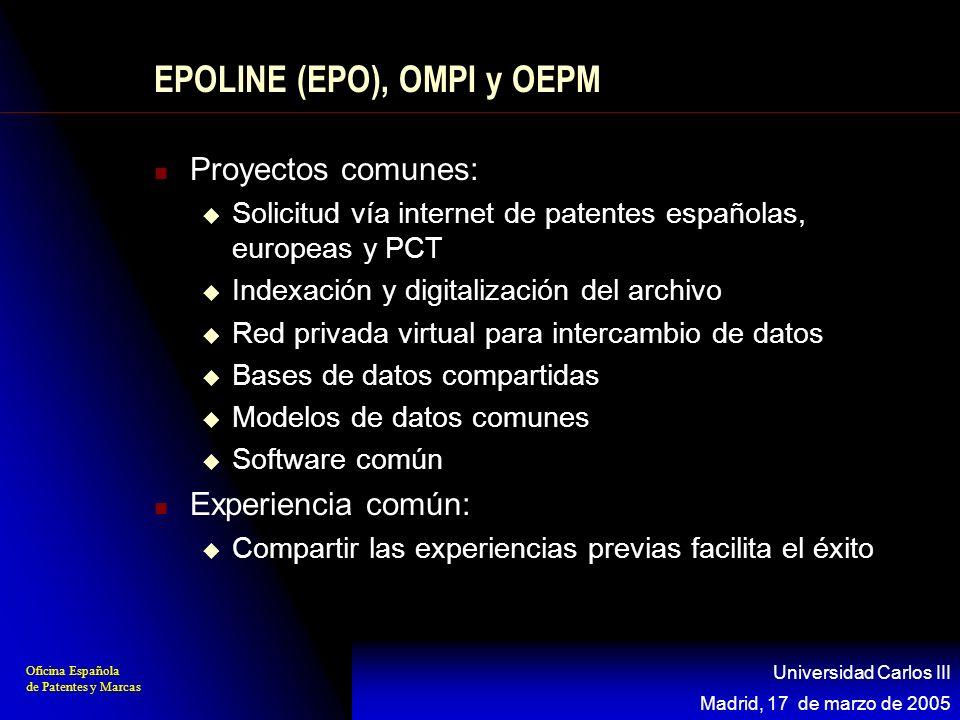 EPOLINE (EPO), OMPI y OEPM
