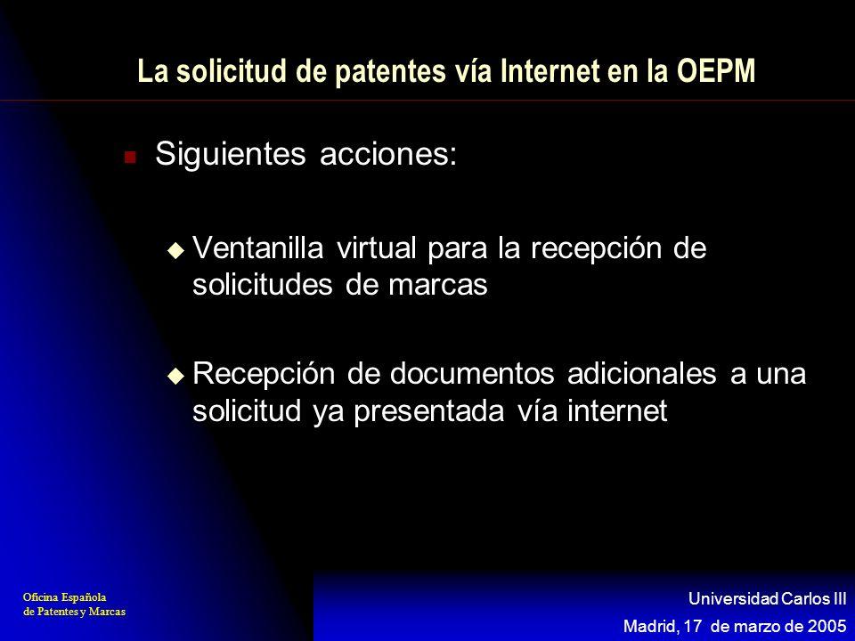 La solicitud de patentes vía Internet en la OEPM