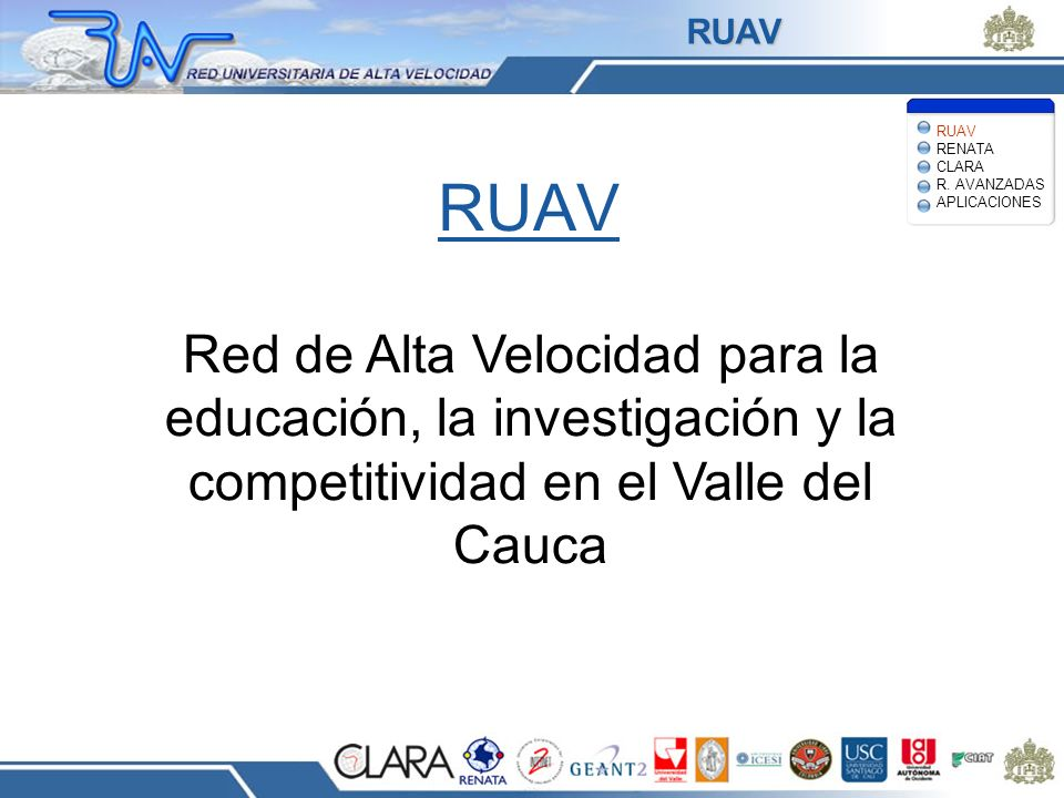 RUAV RUAV RENATA CLARA R. AVANZADAS APLICACIONES. RUAV.