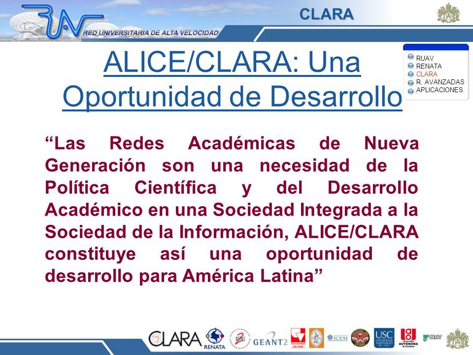 ALICE/CLARA: Una Oportunidad de Desarrollo