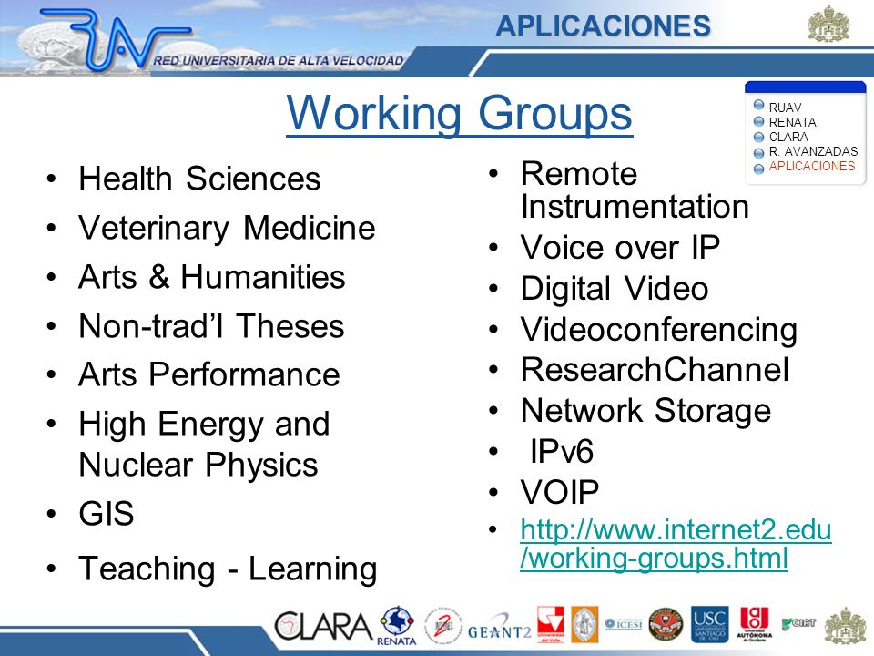 Working Groups Health Sciences Remote Instrumentation