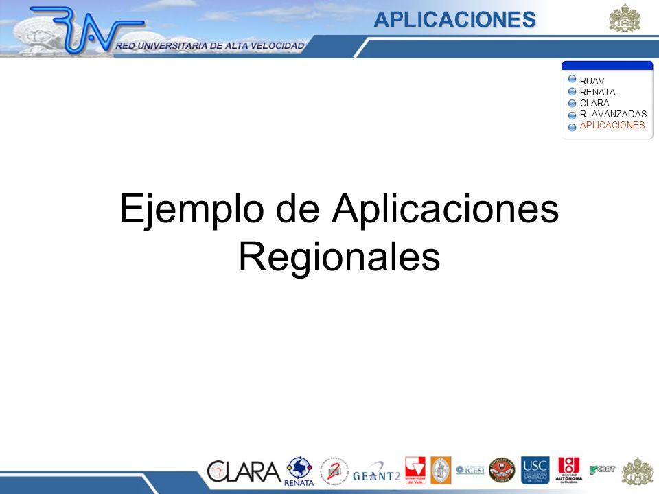 Ejemplo de Aplicaciones Regionales