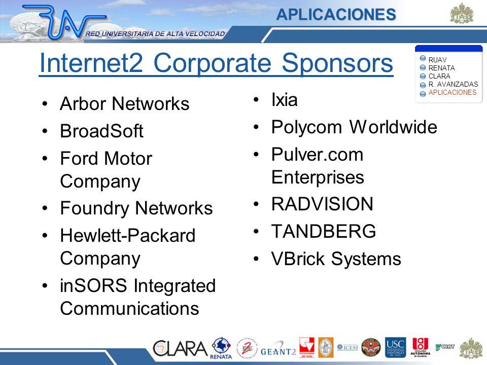 Internet2 Corporate Sponsors
