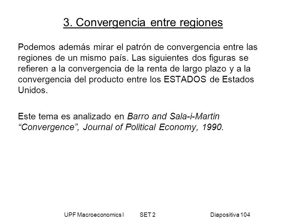3. Convergencia entre regiones
