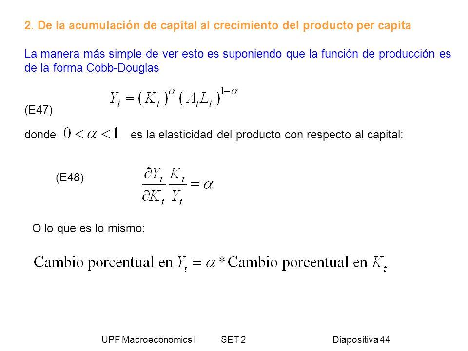2. De la acumulación de capital al crecimiento del producto per capita