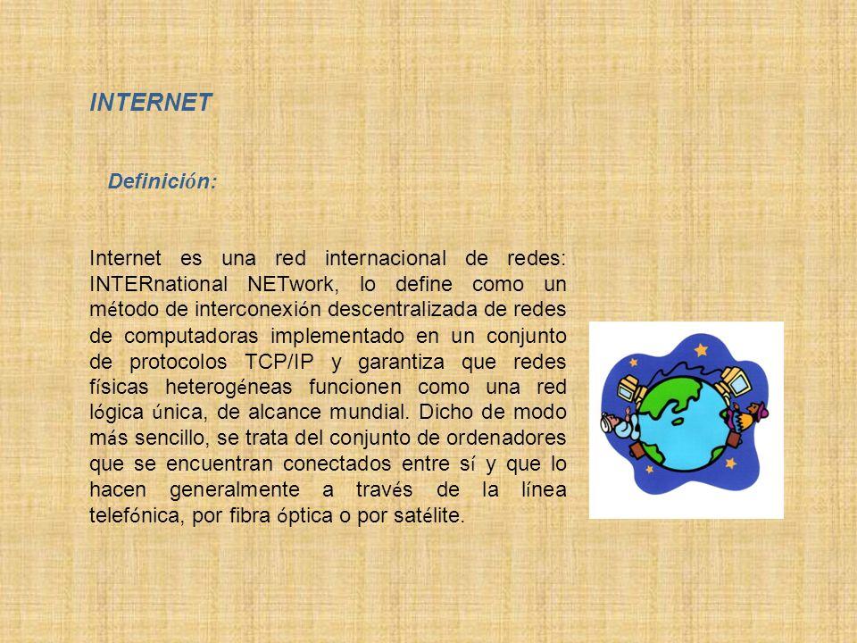 INTERNET Definición: