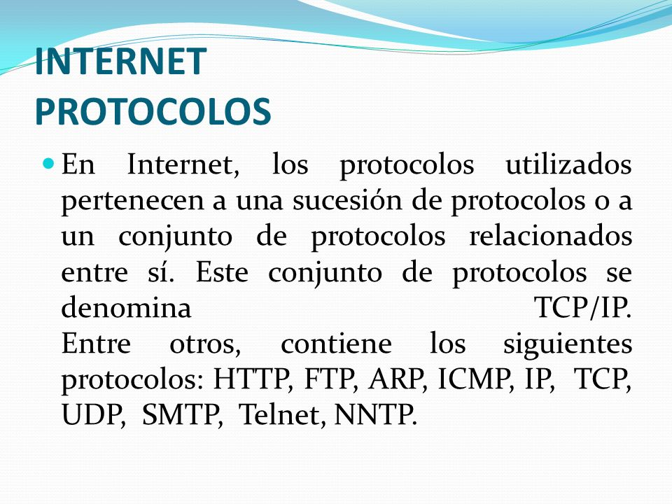 INTERNET PROTOCOLOS