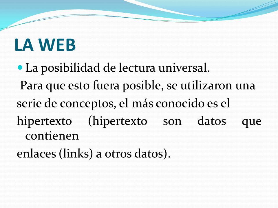 LA WEB La posibilidad de lectura universal.