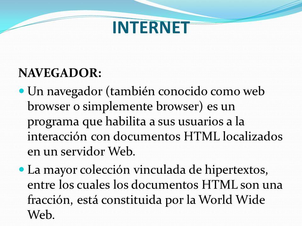 INTERNET NAVEGADOR:
