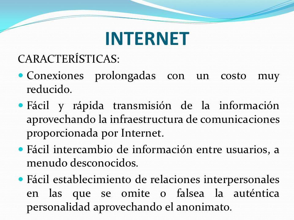 INTERNET CARACTERÍSTICAS:
